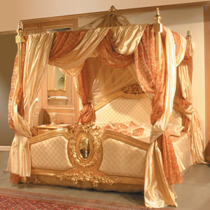 La mia stellina letti a baldacchino for Cianografie del letto della principessa